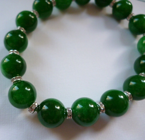 burma bracelet sale hand for i jade knotted beads string green